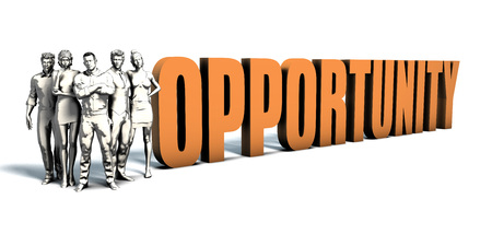 immediate: Business People Team Focusing on Improving Opportunity as a Concept Stock Photo