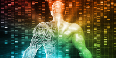 DNA Sequencing or Sequence as a Science Abstract Stock Photo