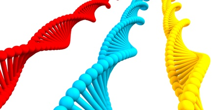 DNA Strand Helix Simple Abstract Background on White