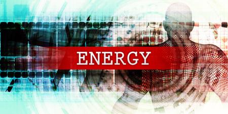 Energiesector met Industrial Tech Concept Art
