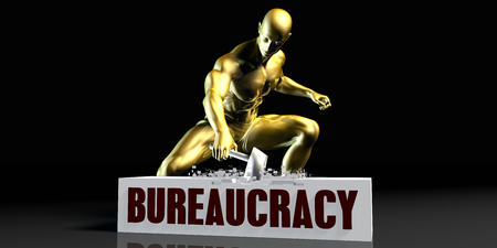 Eliminating Stopping or Reducing Bureaucracy as a Concept Stock Photo