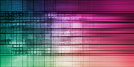 Pixel Abstract Background with Digital Theme Concept
