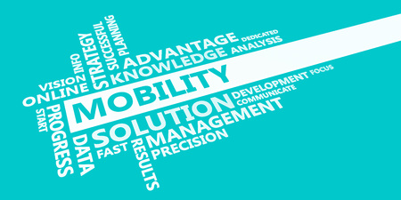 Mobility Presentation Background in Blue and White