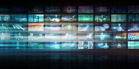 Technologie futuriste avec des antécédents de technologie future Banque d'images - 86190101