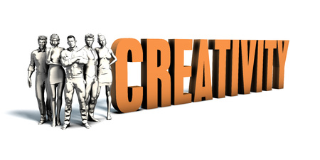Business People Team Focusing on Improving Creativity as a Concept