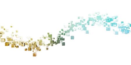 Business Analytics Software Cube as a Tech Concept Lizenzfreie Bilder