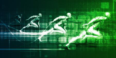 Sports Technology and Medical Research as Concept Lizenzfreie Bilder