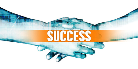 Success Concept with Businessmen Handshake on White Background