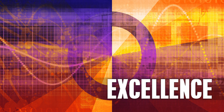 Excellence Focus Concept on a Futuristic Abstract Background