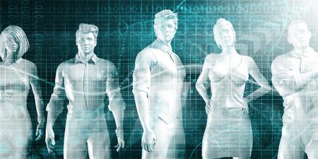 Business Performance Review and Data Comparison of People Lizenzfreie Bilder