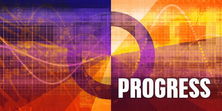 Progress Focus Concept on a Futuristic Abstract Background