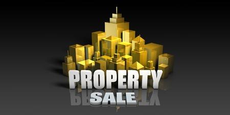 Property Sale Industry Business Concept with Buildings Background Lizenzfreie Bilder