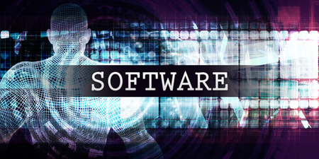 Software Industry with Futuristic Business Tech Background