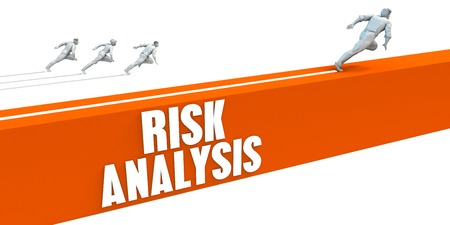 Risk Analysis Express Lane with Business People Running Lizenzfreie Bilder