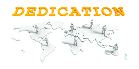 Dedication Concept with a Global Business Team