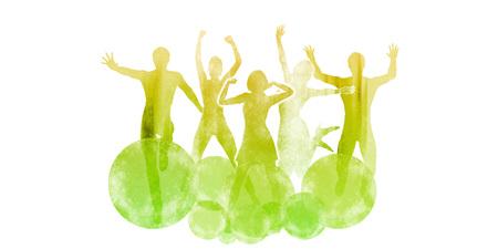 Celebrating Life with a Celebration Dance Silhouette Concept Lizenzfreie Bilder