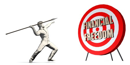 Financial Freedom Goal with Businessman Targeting Concept