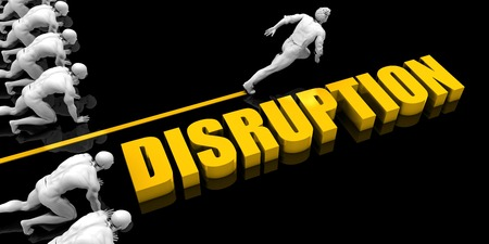 Disruption Leader with a Man Having a Head Start