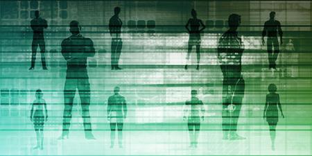 Business Team Standing with Leader in Front as a Concept Lizenzfreie Bilder