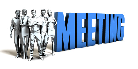 Meeting Business Concept as a Presentation Background