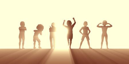 Active Lifestyle for Children Mental and Physical Wellbeing Lizenzfreie Bilder