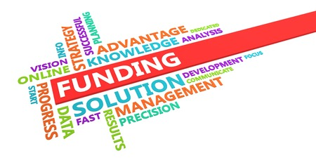 Funding Word Cloud Concept Isolated on White Lizenzfreie Bilder