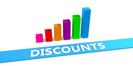 Great Discounts Concept with Good Chart Showing Progress Lizenzfreie Bilder