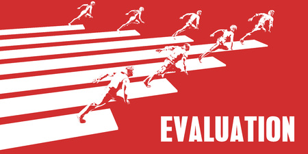Evaluation with Business People Running in a Path