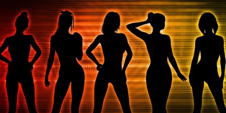 Nightclub Dancers Dancing to the Music Concept Lizenzfreie Bilder