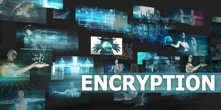 Encryption Presentation Background with Technology Abstract Art
