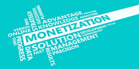 Monetization Presentation Background in Blue and White