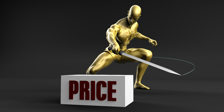 Reduce Price and Minimize Business Concept