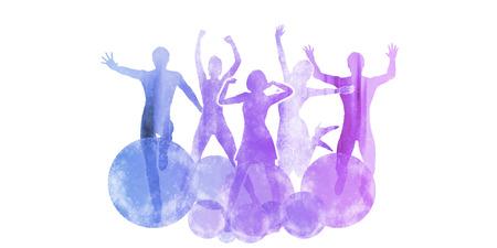 Leute, die auf einer Party als ein abstraktes Konzept tanzen Standard-Bild