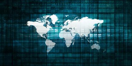 インターネット技術とグローバル ネットワーク システム アート 写真素材