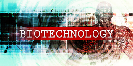 Biotechnologiesector met industrieel technologieconcept Art