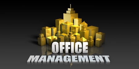 Office Management Industry Business Concept with Buildings Background Stock Photo