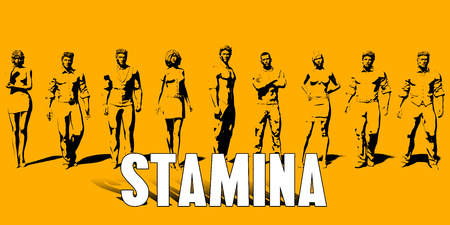 Stamina Concept With Business Professionals Standing in a Row