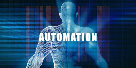 Automation as a Futuristic Concept Abstract Background