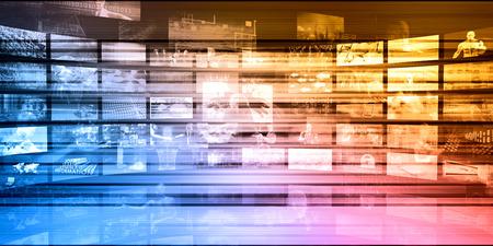 Cyber ??Security Network met Computer Connectivity Art