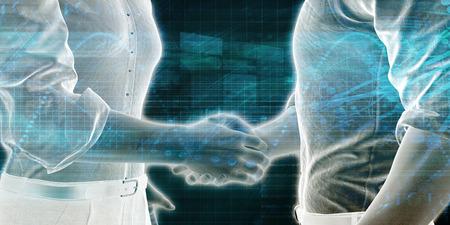 손을 흔드는 두 기업인과의 비즈니스 협업 스톡 콘텐츠