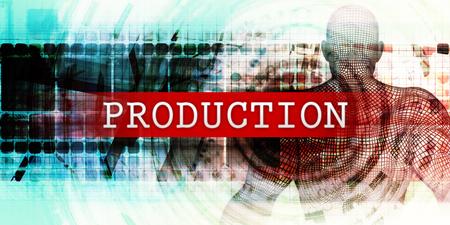 Productiesector met Industrial Tech Concept Art
