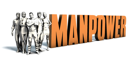 Business People Team Focusing on Improving Manpower as a Concept