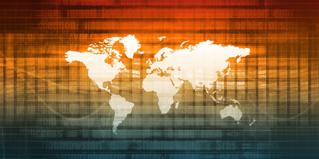 Globalization and Open Market Economy as Technology Stock Photo