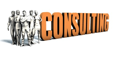 Business People Team Focusing on Improving Consulting as a Concept