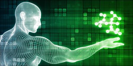 Wetenschapsonderzoek als een molecuulconcept voor presentatie