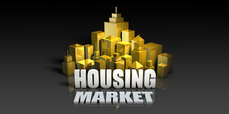 Housing Market Industry Business Concept with Buildings Background