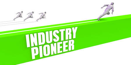 Industry Pioneer as a Fast Track To Success Stock Photo