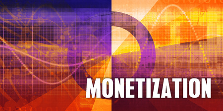 Monetization Focus Concept on a Futuristic Abstract Background Lizenzfreie Bilder