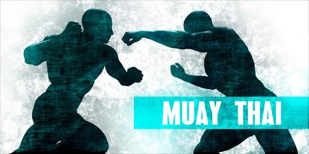 Muay thai Martial Arts Self Defence Training Concept Stock Photo