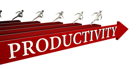 Productivity Solutions with Business People Running To Success Lizenzfreie Bilder
